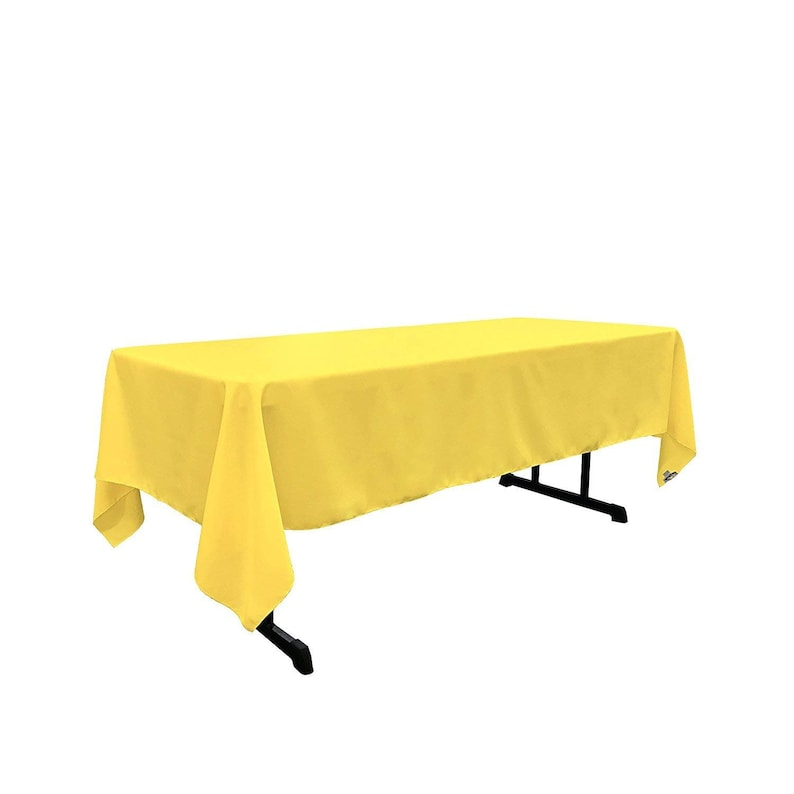 60 x 102 inch Rectangular Lt Yellow Tablecloth Polyester Banquet Tablecloth-Wedding Tablecloth-Bridal-House Decoration