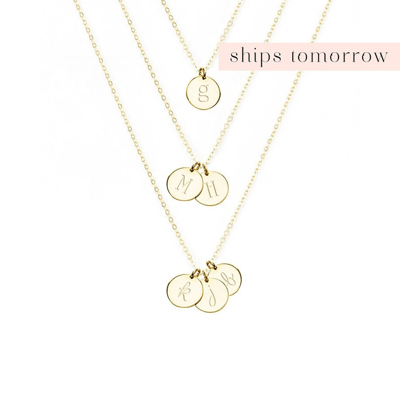 Initial Necklace Gold Personalized Necklace For Mom Gift From image 0