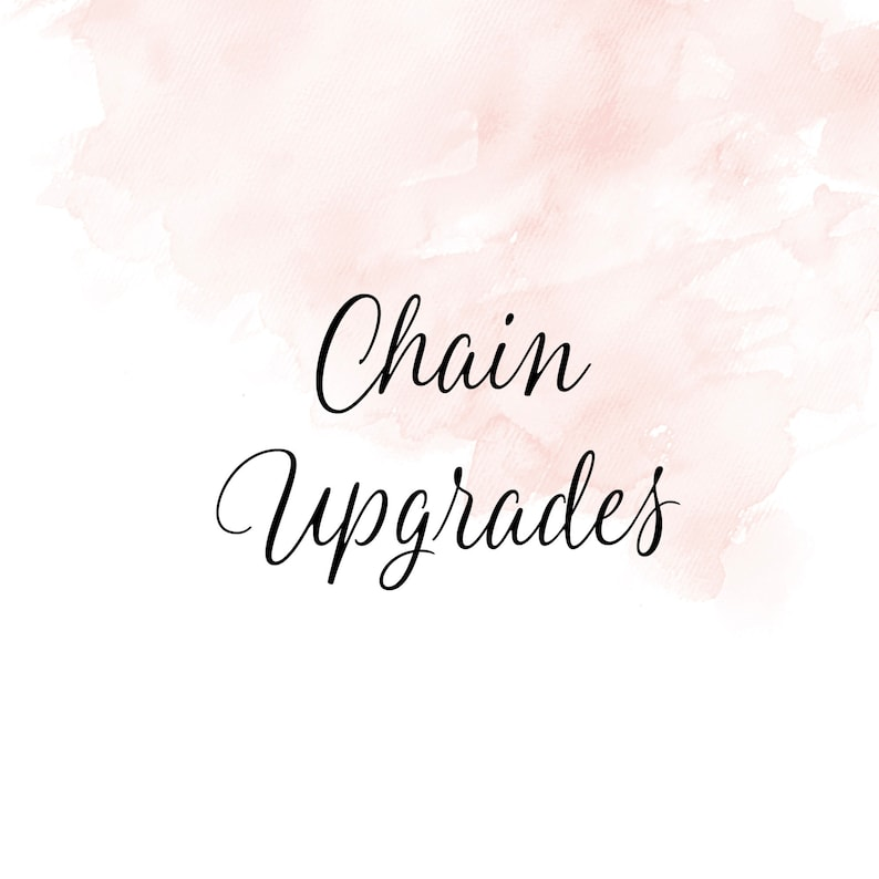 Chain upgrade with purchase DOES NOT SHIP image 0