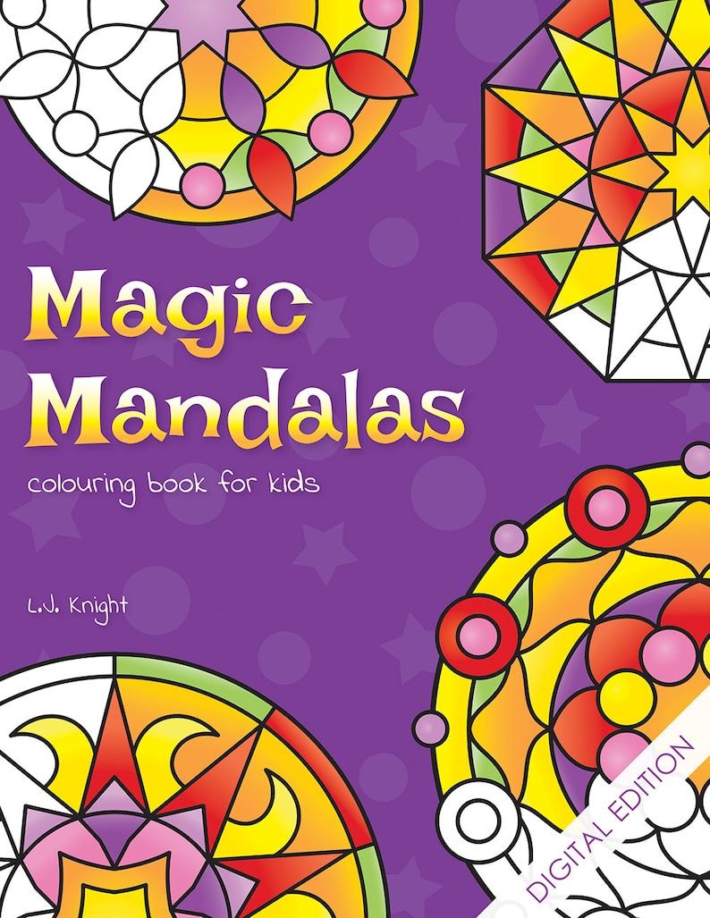 Magic Mandalas Printable Colouring Book For Kids  50 Easy image 0