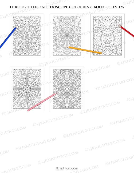 Through the Kaleidoscope Digital Colouring Book PDF | Etsy