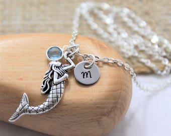 Mermaid Necklace - Personalized Mermaid Gifts - Mermaid Pendant - Mermaid Charm Necklace - Girls Mermaid Gift