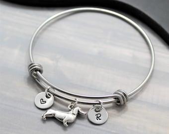 Dachshund Gift - Dachshund Bracelet - Personalized - I Love My Dachshund - Weiner Dog Bracelet - Dachshund Jewelry - Dachshund Lover
