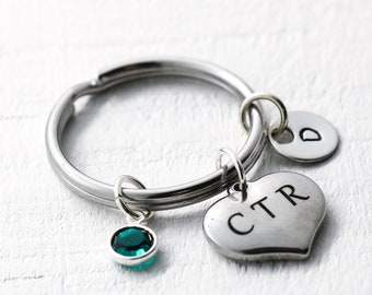CTR Keychain Choose The Right - Mormon Keychain - CTR Jewelry for Women - CTR Gifts for Daughter, Sister, Wife, Mom - Mormon Accessories