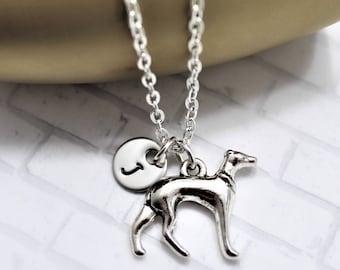Italian Greyhound Necklace - Greyhound Jewelry - Personalized - Animal Lover - Greyhound Gifts