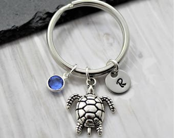 Sea Turtle Keychain - Personalized - Turtle Accessories for Women   Girls -  Turtle Lover Gifts - Turtle Beach Themed Ocean Jewelry 68960955c4