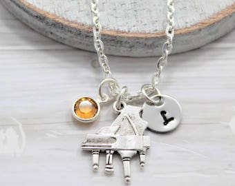 Piano Necklace - Music Themed Gifts for Pianist - Personalized Piano Jewelry - Grand Piano Jewelry - Piano Lover Necklace