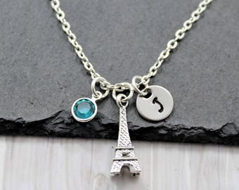 Gift For Her Non Tarnish Eiffel Tower Necklace Necklace For Flight Attendant Eiffel Tower Necklace Stainless Steel Eiffel Tower Necklace
