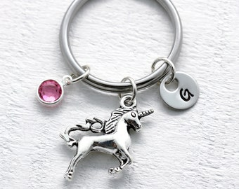 Custom Unicorn Keychain for Girls - Unicorn Lover Fantasy Themed Gifts for Daughters Birthday - Unicorn Jewelry for Women - Accessories