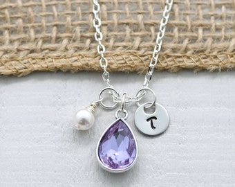 June Birthstone Necklace For Women