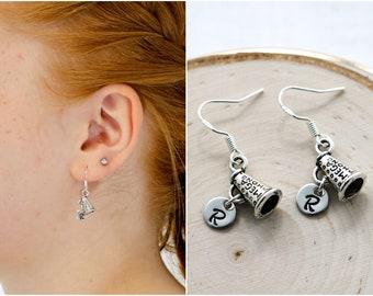 Cheer Earrings - 925 Sterling Silver Hooks - Cheerleader Earrings - Cheerleading Gifts for a Team - Cheer Mom Gift