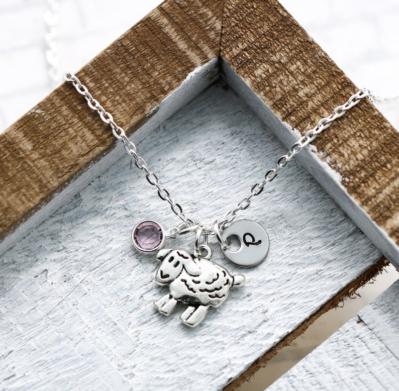 Sheep Necklace  Sheep Gifts for Women  Sheep Jewelry  Sheep image 0