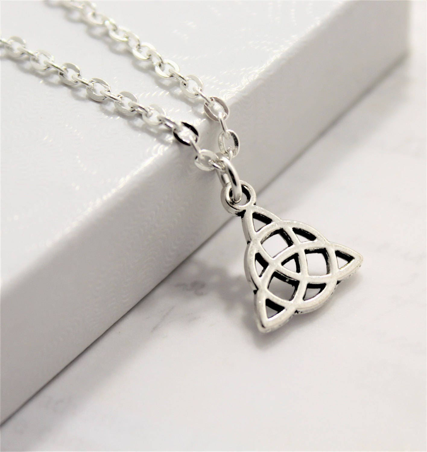 Celtic Knot Necklace for Women - Celtic Jewelry - Celtic Trinity Knot - Trinity Knot Necklace - Celtic Knots Jewelry -, used for sale
