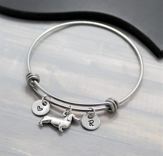Dachshund Gift  Dachshund Bracelet  Personalized  I Love My