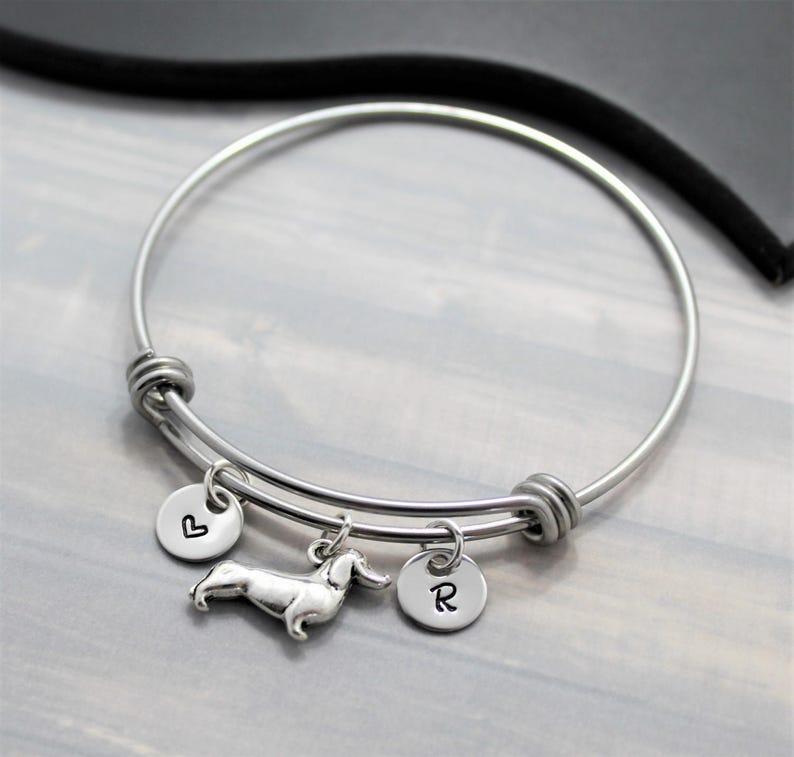Dachshund Gift  Dachshund Bracelet  Personalized  I Love My image 0