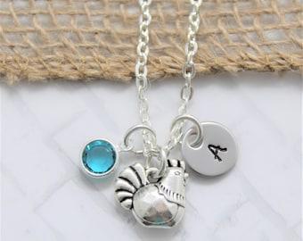 Chicken Necklace - Chicken Jewelry - Chicken Themed Gifts - Chicken Lover - Chicken Novelty - Women's Chicken Necklace - Chicken Gift Idea