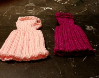 Handmade Knitted Barbie Pleated Dresses Fashion Doll ACT113