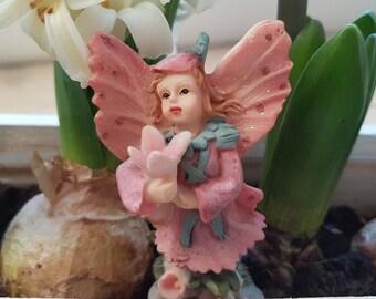 Little pink flower elf fairy