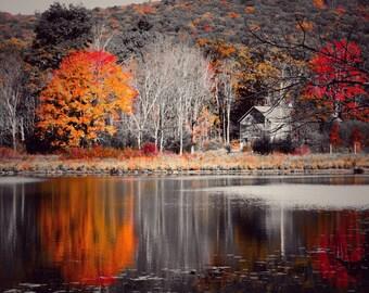 Barn Photography, Selective Color Photography, Wall Decor, Barn Art, Rustic Photography