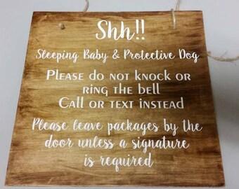 Shh!! Baby Sleeping Door Sign