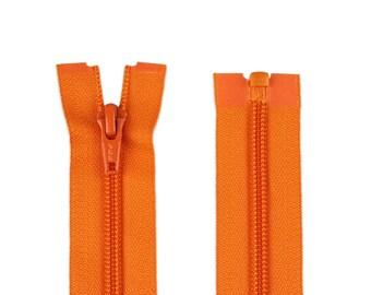 Zipper divisible Color Orange 40 cm-spiral