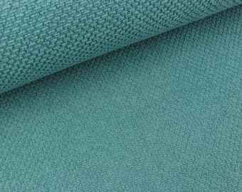 Span Singleknit Quality Textiles helles petrol uni Baumwolle Jersey Stoff