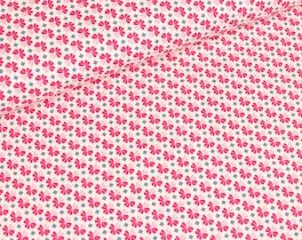 Julia cotton woven pink clovers (11,50 EUR / meter)