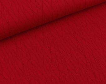 Cotton jersey Valerie Lines dark red on burgundy (13.20 EUR/meter)