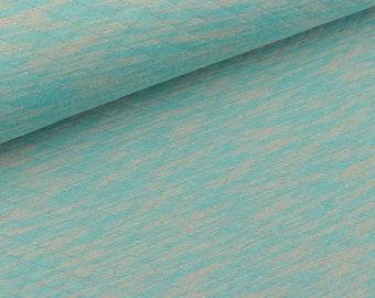 Light Steppsweat Striped Turquoise-beige melange (11.60 EUR/meter)