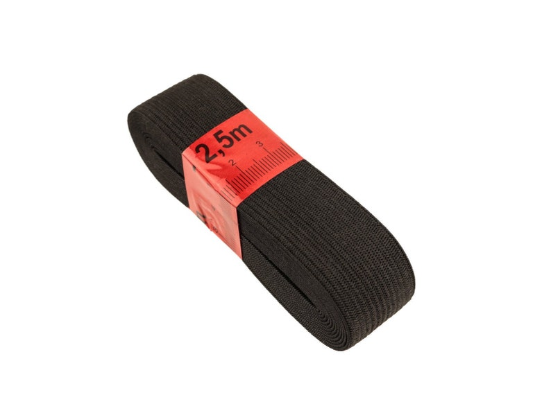 Rubber band Black 2.5 m 20 mm