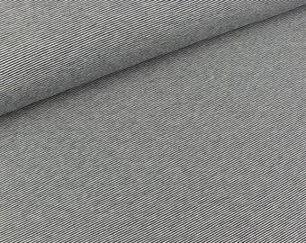 Cotton jersey YD Stripes navy blue-white (8.90 EUR/meter)