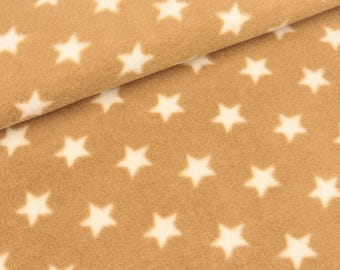 Polar fleece Florian Beige with stars (8.90 EUR/meter)