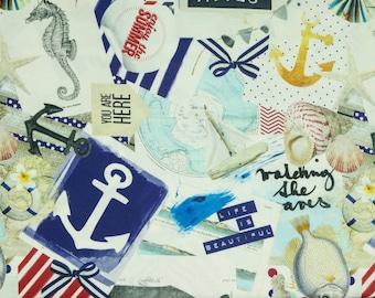 Furnishing fabric Mila Maritime pattern digital print (19.80 EUR/meter)