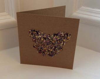 Handmade Dried Flower Card / Greetings Card for all Occasions