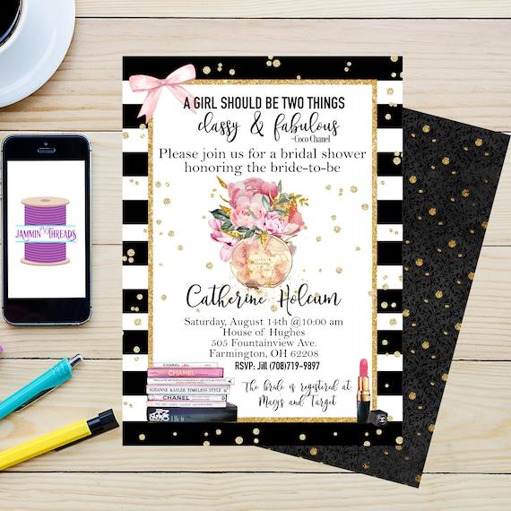 Chanel theme bridal shower invitationprintable etsy image 0 filmwisefo