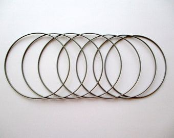 Wire lampshade frame etsy set of 7 metal hoops rings for macram dream catcher lampshade making greentooth Image collections