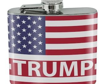 bdf69fe880dc American Gun Flag USA Second 2nd Amendment Stainless Steel 5oz Hip Drink  Flask