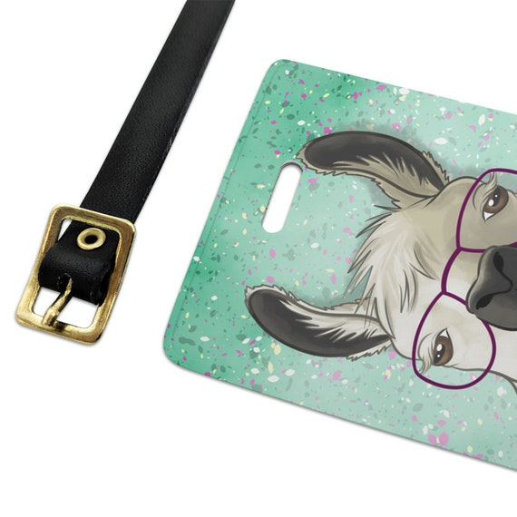 Hip Llama with Glasses Novelty Metal Vanity Tag License Plate
