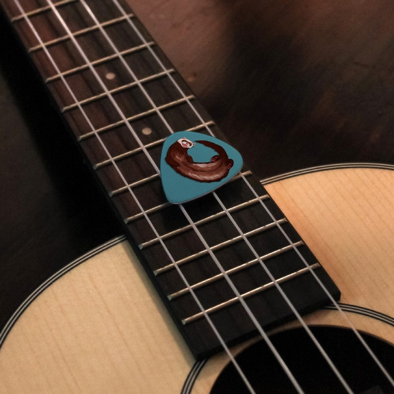 Set of 6 Sloth Just Hanging Around Novelty Guitar Picks Medium Gauge