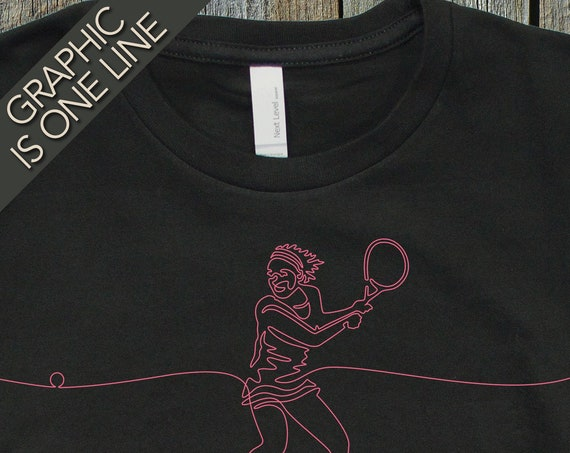 Woman's Tennis T-Shirt, Women's Tennis Tee, Gift for Lady Tennis Player, Girl's Graphic Tee Shirts, Cool T-Shirts Shirts, Girls Tennis Tees