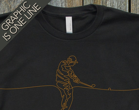 Mens Golf T-Shirt, Golfing Tee Shirt, Mans Golfing Gift, Gift for Golfer, Cool T-Shirts, T-Shirt for Golfer, Unique Golfer Gift, Golfers Tee