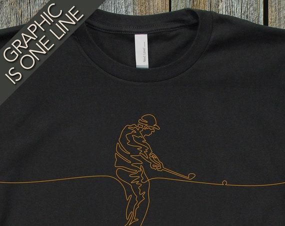 Mens Golf T-Shirt, Golfing Tee Shirt, Mans Golfing Gift, Gift for Golfer, Cool T-Shirts, T-Shirt for Golfer, Unique Golfer Gift, Golfers Tee