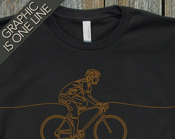 Mans Cycling T-Shirt, Gift for Male Cyclist, Graphic Tees, Cool T-Shirts, Mens Bicycling T-Shirt,  Mens Graphic T-Shirt, Unique Cycling Tees