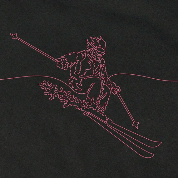 Skier's T-Shirt, Skier's Gift, Women's Skiing T-Shirt, Gift For a Skier, T-Shirt for Female Skier, Cool T-Shirts, Graphic Tees, Skiing Tee
