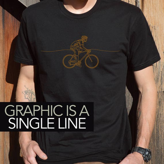 Gift for Cyclist, Cycling T-shirt, Unique T-shirts, Graphic T-shirts, Cycling Art, Gift for Bicyclist, Cool T-shirt Designs, Wearable Design