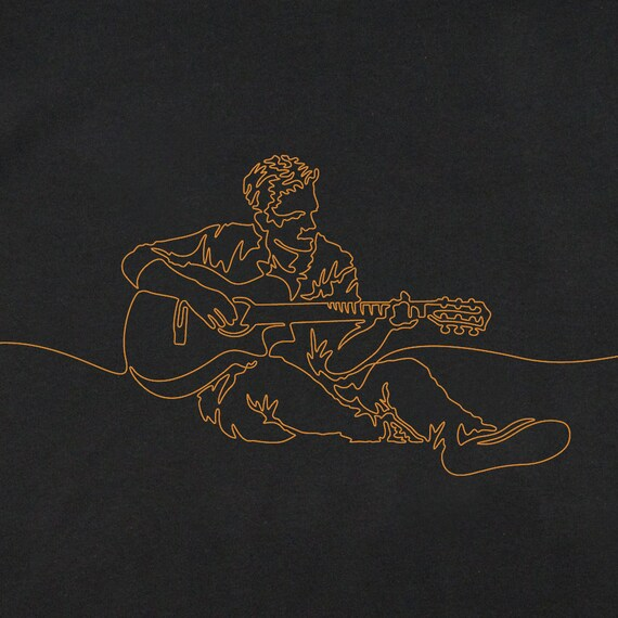 Men's Guitar T-Shirt, Guitarist T-Shirt, Gift for Guitarist, Guitar Art, Graphic T-Shirts, Guitar Player T-Shirt, Graphic Guitar T-Shirt
