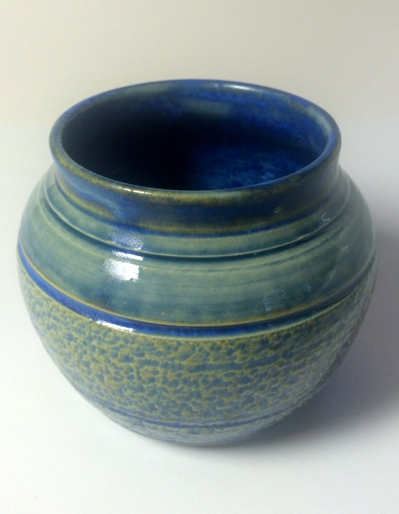 Small Open Vase With Chatter Decoration A Unique Homemade Etsy