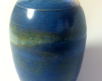 Small Blue and Green Bud Vase.