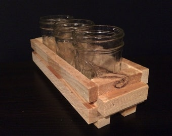Pallet wood mason jar crate