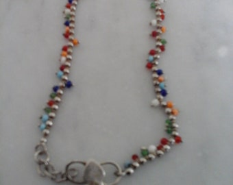 Colored Beaded Anklet